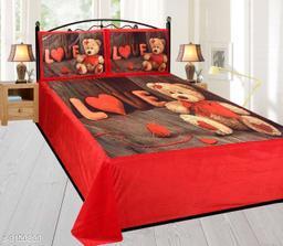 Designed Comfortable Velvet Printed Double Bedsheet