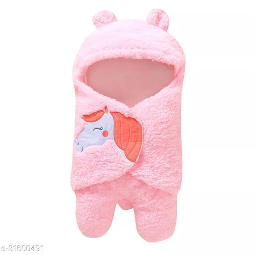 My NewBorn baby blanket for all season baby towel baby sleeping bag premium quality (Unisex-0-6 months)-Pink