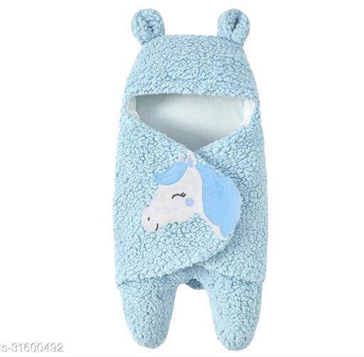 My NewBorn baby blanket for all season baby towel baby sleeping bag premium quality (Unisex-0-6 months)-Blue