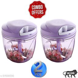 BRANZY new combo of purple (900 ml +900 ml) vegetable and fruit chopper vegetable cutter chilly cutter tomato cutter with 5 stainless steel blade and 1 bitter