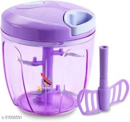BRANZY chopper of purple (900 ml ) vegetable and fruit chopper vegetable cutter chilly cutter tomato cutter with 5 stainless steel blade and 1 bitter