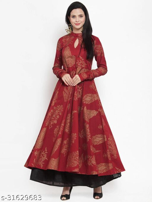 HAVEY RAYON PRINTED ANARKALI  gown