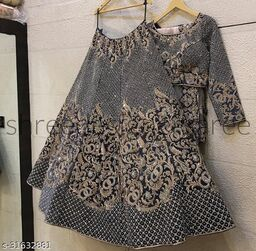 Dusty Grey Colored Bridal Velvet material Lehenga Choli With Embroidery Work