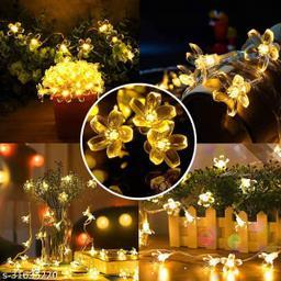 16 flower indoor light string-warm white