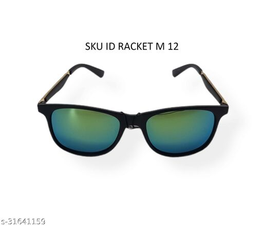 racket fashion glass for mens with plastic and matal frame