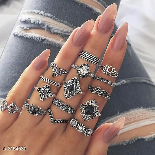 Oxidised Silver Women's Oxidised Silver Rings