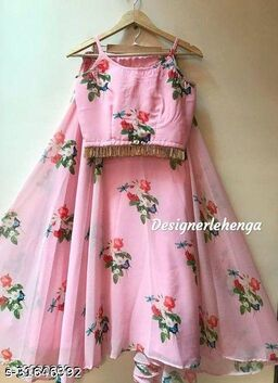 11 Latest organza pink lehenga with material