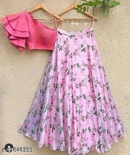 13 Latest orgenza pink lehenga with khadi blouse