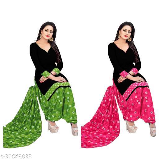 printed women's dress materials(pack of2)