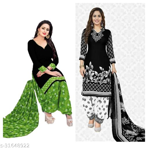 dress/printed materials for women's(pack of2)