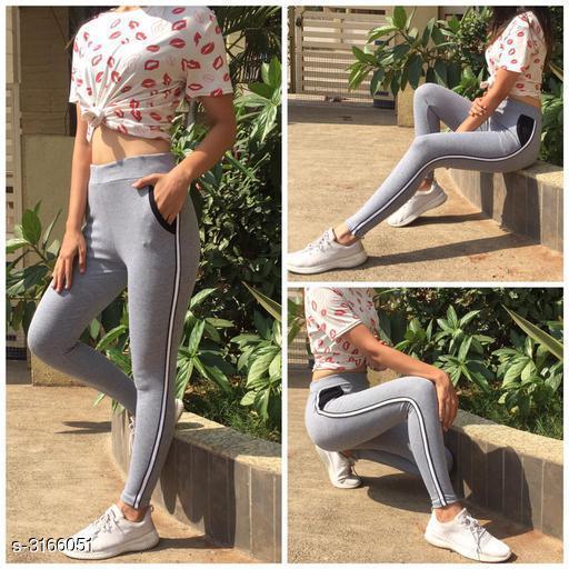 Sportswear Bottoms Attractive Fancy Cotton Lycra Women's Sports Bottom Wear  *Fabric* Cotton Lycra  *Size* XS - 26 in, S - 28 in, M - 30 in, L - 32 in  *Length* Up To 39 in  *Type* Stitched  *Description* It Has 1 Piece Of Women's  Sports Bottom  *Pattern* Striped  *Sizes Available* 26, 28, 30, 32 *   Catalog Rating: ★4.4 (14)  Catalog Name: New Attractive Fancy Cotton Lycra Women's  Sports Bottom Wear Vol 1 CatalogID_434774 C78-SC1059 Code: 823-3166051-