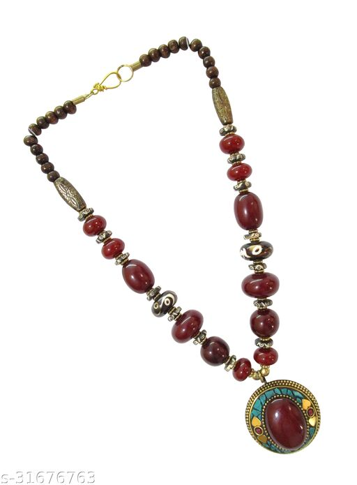 Hand made Fancy Ethnic Party Wear Tibetan Ethnic Pendent Necklace for women & Girl ( Length 28 inch)
