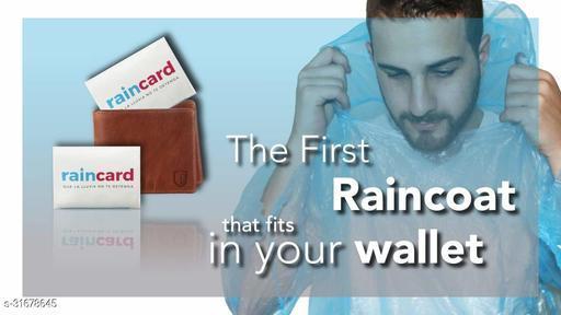Rain Card Wallet Size, Compact Rain Coat For Rain Pack Of 5\