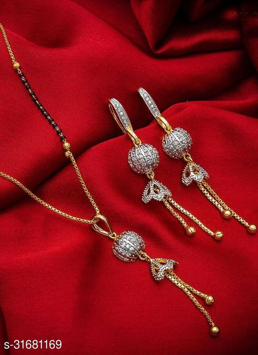 FANCY AND UNIQUE AMERICAN DIAMOND MANGALSUTRA