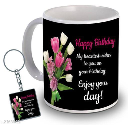 Birthday,Anniversary,Gift for Sister, Wife, Brother, Mother, Dad special Gifted Mug, 1 Printed Key Ring best gift for sister birthday New Trendy High Quality Multicolor Ceramic Gifted Mug (330 ml) MUG KC 795