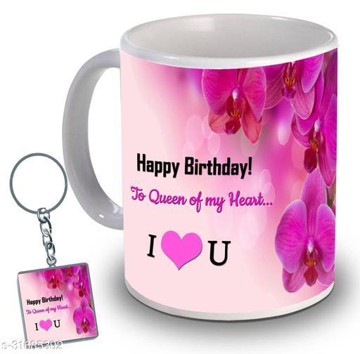 Birthday,Anniversary,Gift for Sister, Wife, Brother, Mother, Dad special Gifted Mug, 1 Printed Key Ring best gift for sister birthday New Trendy High Quality Multicolor Ceramic Gifted Mug (330 ml) MUG KC 792