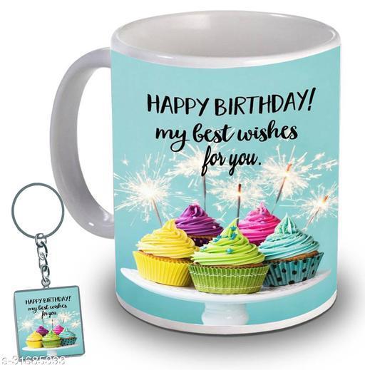 Birthday,Anniversary,Gift for Sister, Wife, Brother, Mother, Dad special Gifted Mug, 1 Printed Key Ring best gift for sister birthday New Trendy High Quality Multicolor Ceramic Gifted Mug (330 ml) MUG KC 791