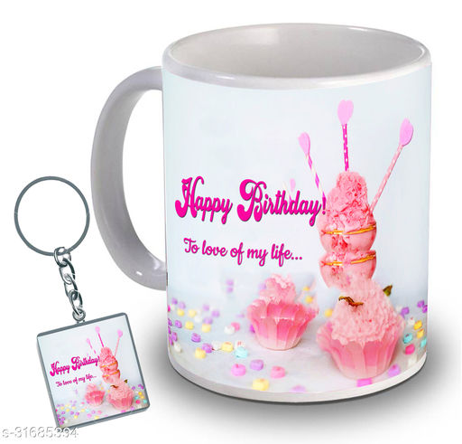 Birthday,Anniversary,Gift for Sister, Wife, Brother, Mother, Dad special Gifted Mug, 1 Printed Key Ring best gift for sister birthday New Trendy High Quality Multicolor Ceramic Gifted Mug (330 ml) MUG KC 793