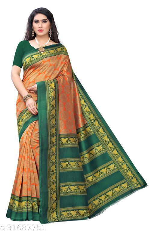 Trendy Art Silk saree With Blouse Piece