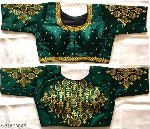 trendy Hevay Embriodery  Work  Blouse