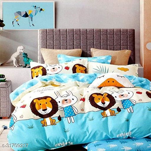 Home Designs Glace Cotton Double Bed Duvet Cover Set- (Size – 90 x 100 INCHES)