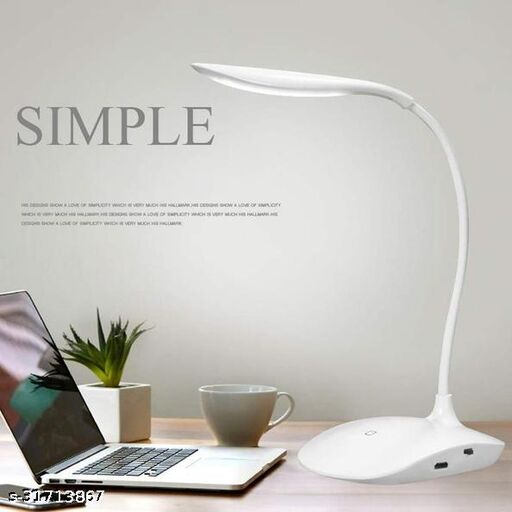 Tornado LED Table Lamp Rechargeable Touch Flexible 3 Modes Flexible Desk Lamp For Bedside Book Reading Study Office Work Kids Night Light Eye comfort Lamp