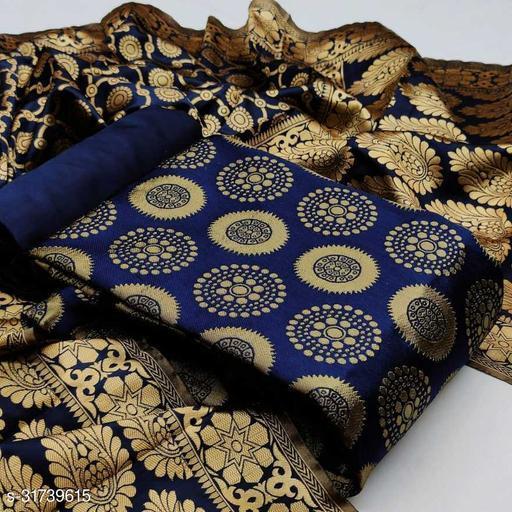 Attrective Jaquard Suit With Banarasi Dupatta