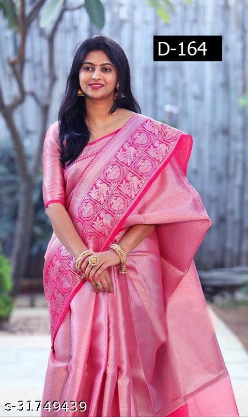 Embellished Kanjivaram Silk Blend Saree