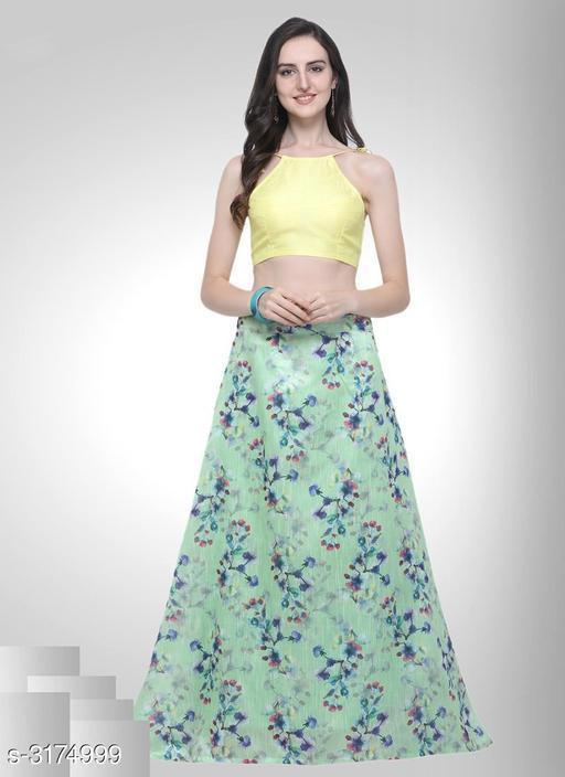 Lehengas Fabulous Bhagalpuri Silk Women's Lehenga  *Fabric* Lehenga - Bhagalpuri Silk, Blouse - Bhagalpuri Silk Lehenga - Up 28 in to 42 in, Blouse - 0.7 Mtr  *Length* Lehenga - Up To 42 in  *Type* Lehenga - Semi -Stitched, Blouse - Un-Stitched  *Description* It Has 1 Piece Of Women's Lehenga, 1 Piece Of Blouse  *Work* Lehenga - Digital Floral Print , Blouse - Solid  *Sizes Available* Un Stitched, Semi Stitched *   Catalog Rating: ★4.1 (20)  Catalog Name: Divine Fabulous Bhagalpuri Silk Women's Lehengas Vol 10 CatalogID_436241 C74-SC1005 Code: 323-3174999-