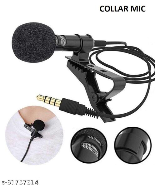 3.5mm Lapel Lavalier Clip Microphone For Mobile