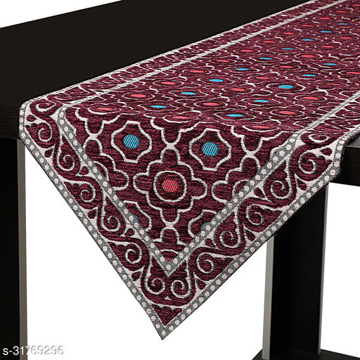 Dining Table Long Runner/ Bed Runner Table Ware (Size 13 in x72 in inches) Wine, Purple