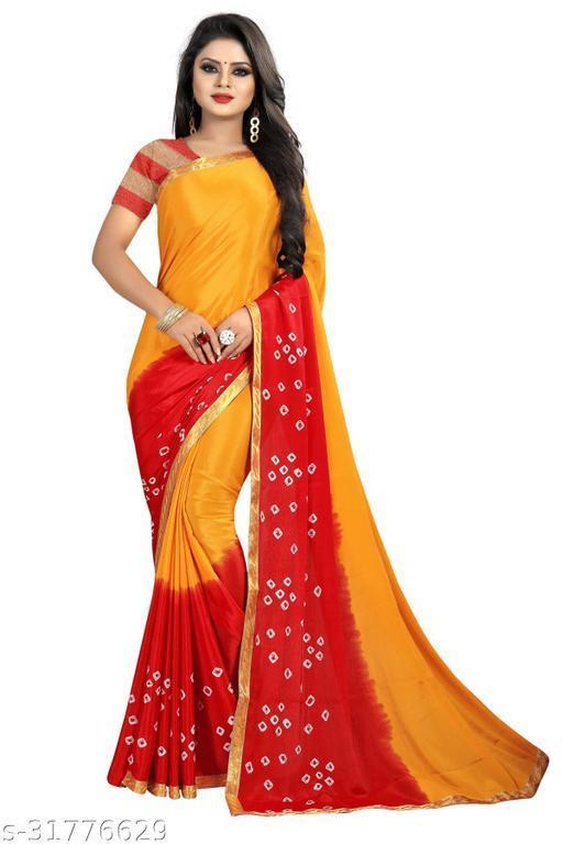 Fruzis Fashion Present Womens Saree With Blouse