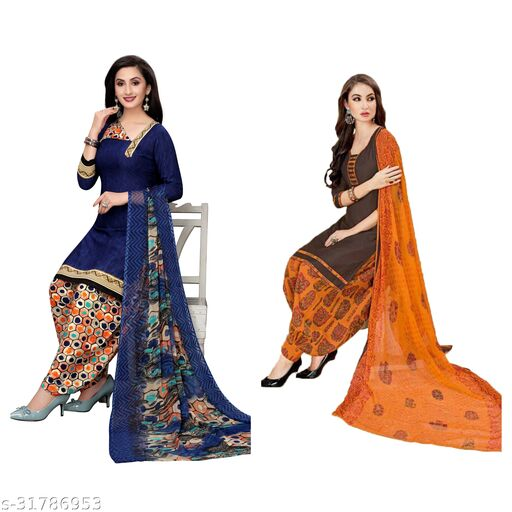 stylist womens unstiched dress materials(pack of 2)