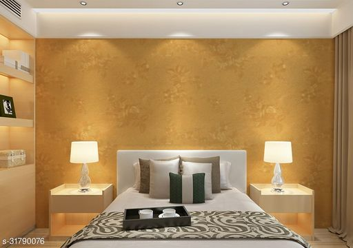 3D Wallpaper for walls, Self Adhesive wall Sticker - 45cm x  5M - 531Gold