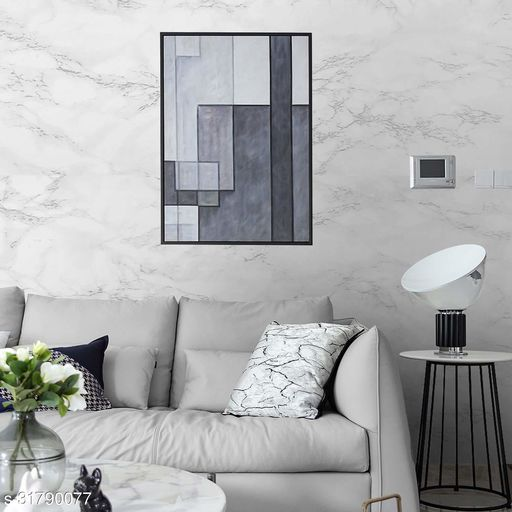 3D Wallpaper for walls, Self Adhesive wall Sticker - 45cm x  5M - 521White