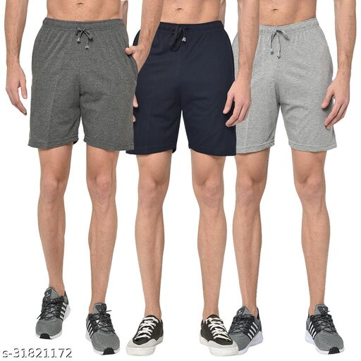 Multicolor Shorts For Men ( pack of 3)