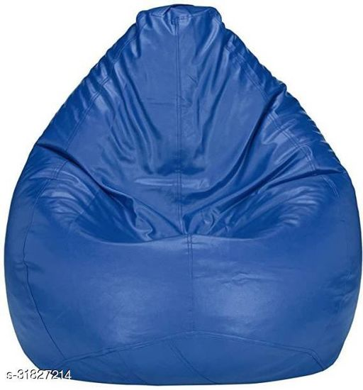 RK MART BLUE XXL BEAN BAG  COVER WITHOUT BEANS