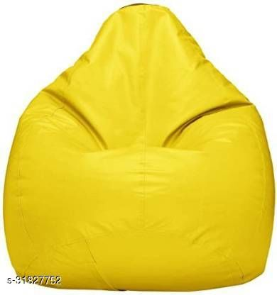 RK MART YELLOW XXL BEAN BAG  COVER WITHOUT BEANS