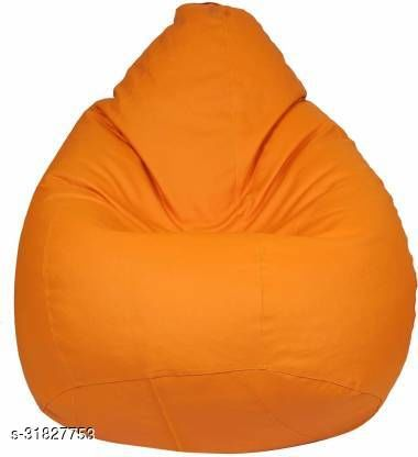RK MART ORANGE XXL BEAN BAG  COVER WITHOUT BEANS