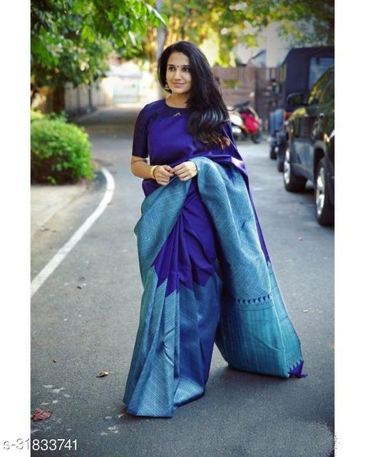Latest Designer Soft Silk Saree With Blouse Piece