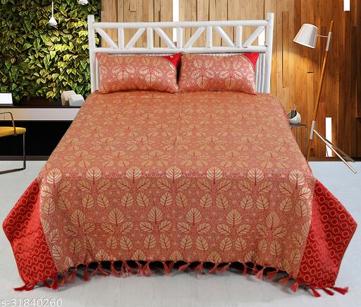 180 TC Jacquard Bedcover with 2 Pillow Covers