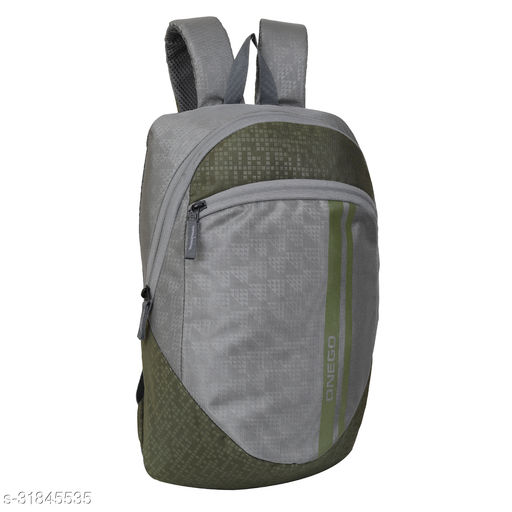 Small 15 Litre Backpack Stylish and unisex Water Repellent 1-2 Hours trip bag for Daily Use single compartment (Grey-Green)