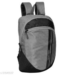Small 15 Litre Backpack Stylish and unisex Water Repellent 1-2 Hours trip bag for Daily Use single compartment (Grey-Black)