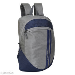 Small 15 Litre Backpack Stylish and unisex Water Repellent 1-2 Hours trip bag for Daily Use single compartment (Grey-Navy Blue)