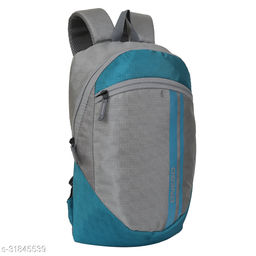 Small 15 Litre Backpack Stylish and unisex Water Repellent 1-2 Hours trip bag for Daily Use single compartment (Grey-Blue)