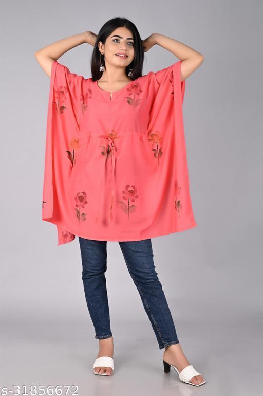 Charvi Pink Printed Women Kaftan