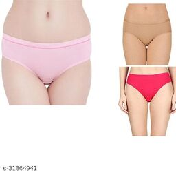 Women Hipster Nude Cotton Blend Panty (Pack of 3)