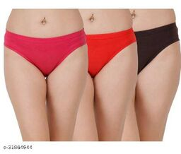 Women Hipster Pink Cotton Blend Panty (Pack of 3)