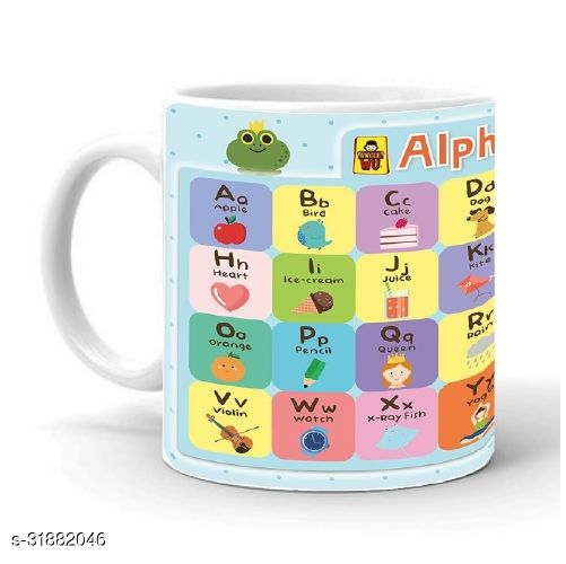 KP Alphabet A-Z Printed Coffee Mug 1 Pcs -325ml
