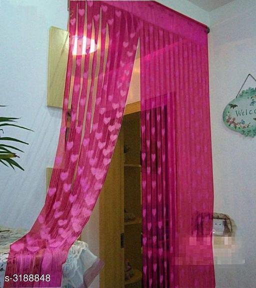 Stylish Net Polyester Door Curtain